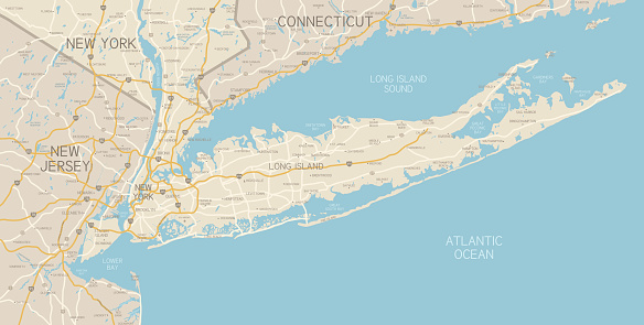 NYC Region and Long Island Map