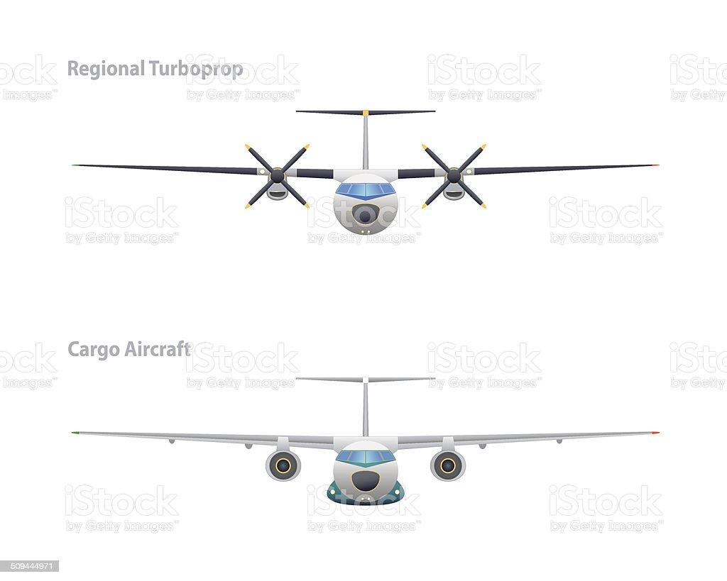 Turboprop Regional Y Los Aviones De Carga - Arte vectorial de stock ...