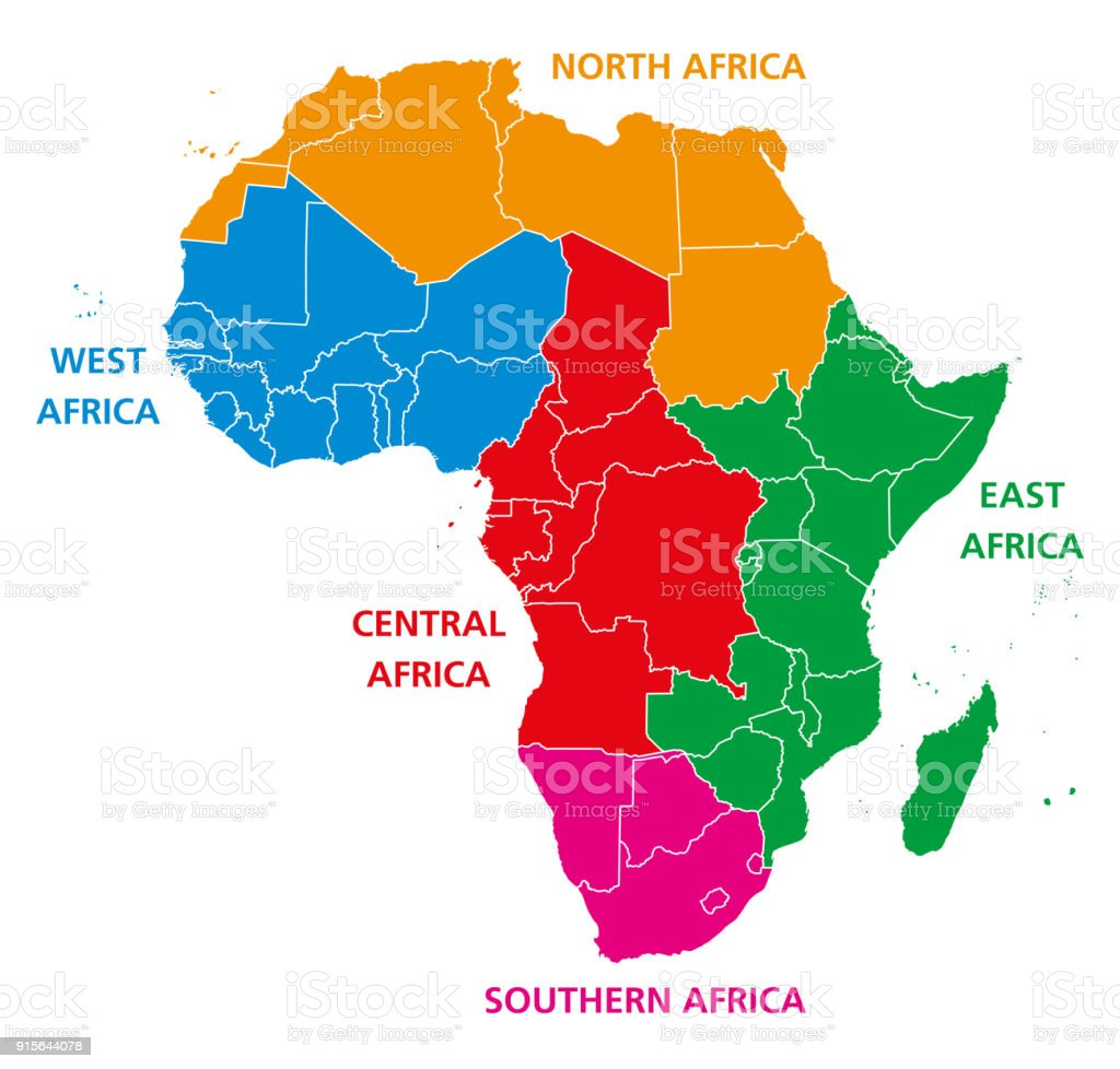 Regions of africa political map stock vector art more images of regions of africa political map royalty free regions of africa political map stock vector art gumiabroncs Image collections