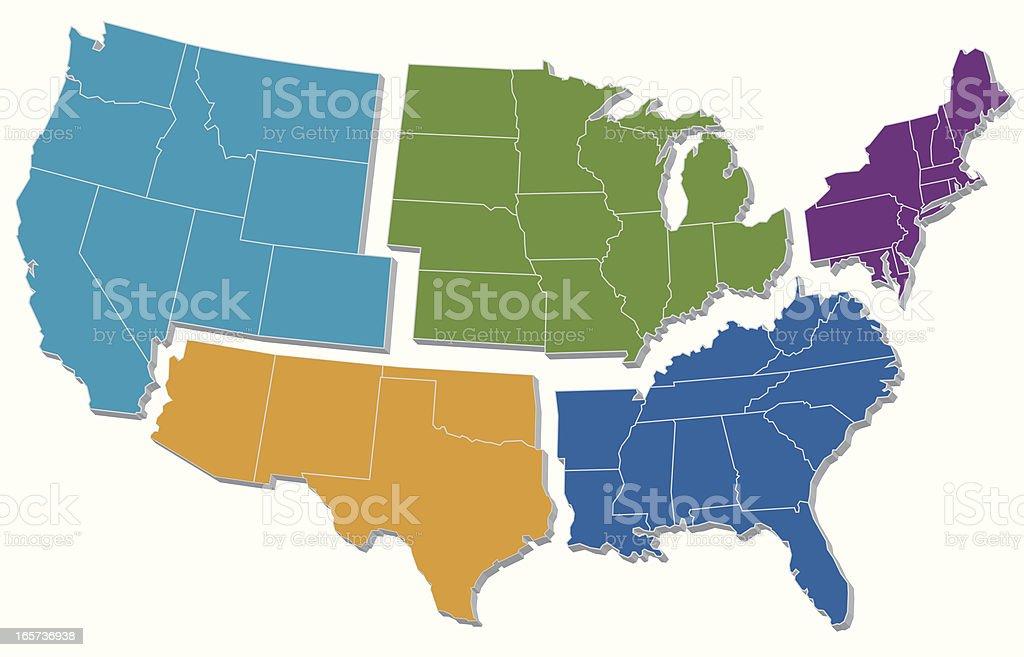 US Regions royalty-free stock vector art