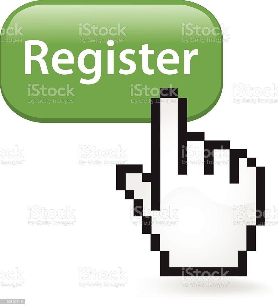 Register Button Click vector art illustration