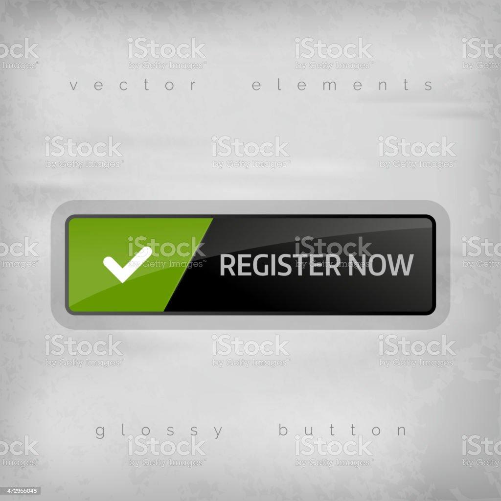 Register Button vector art illustration