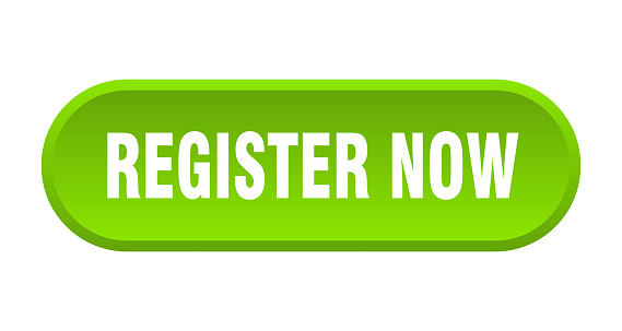 register now button. register now rounded green sign. register now