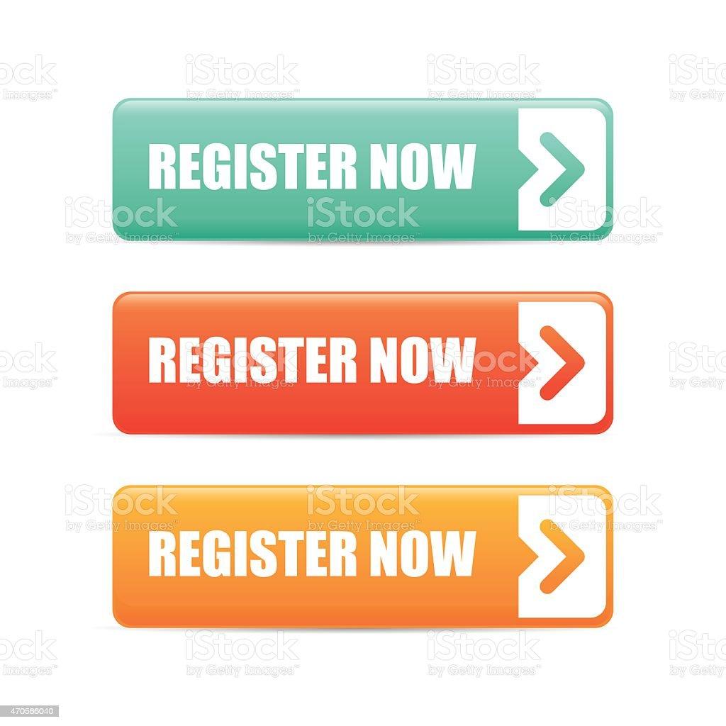 Register now design. vector art illustration
