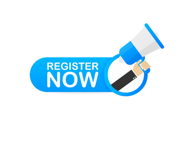 Register now sign. Trendy Web interface or app button. Vector illustration. Register now sign. Trendy Web interface or app button. Vector stock illustration. register stock illustrations