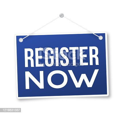 istock Register Now Sign 1219531337
