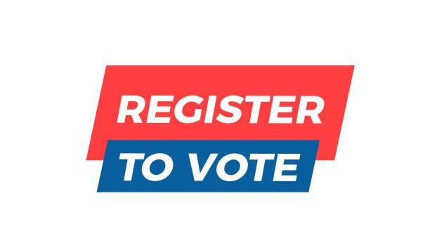 Register to Vote graphic design element. Vector illustration Vector eps10 register stock illustrations