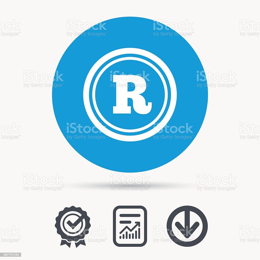 Registered Trademark Icon Intellectual Work Stock Vector Art