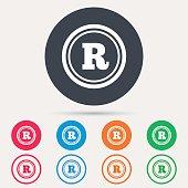 Registered trademark icon. Intellectual work.