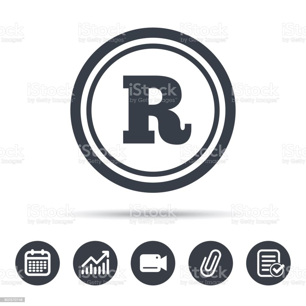 Registered Trademark Icon Intellectual Work Stock Vector Art More