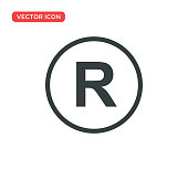 istock Registered Trademark Icon Vector Illustration Design 1166639665