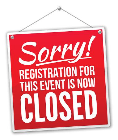 Registration Closed Sign