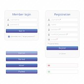 Registration form and login