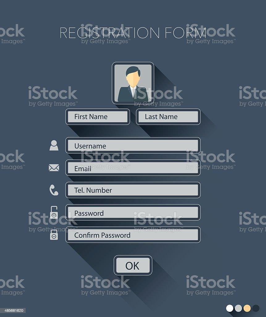 registration form vector art illustration