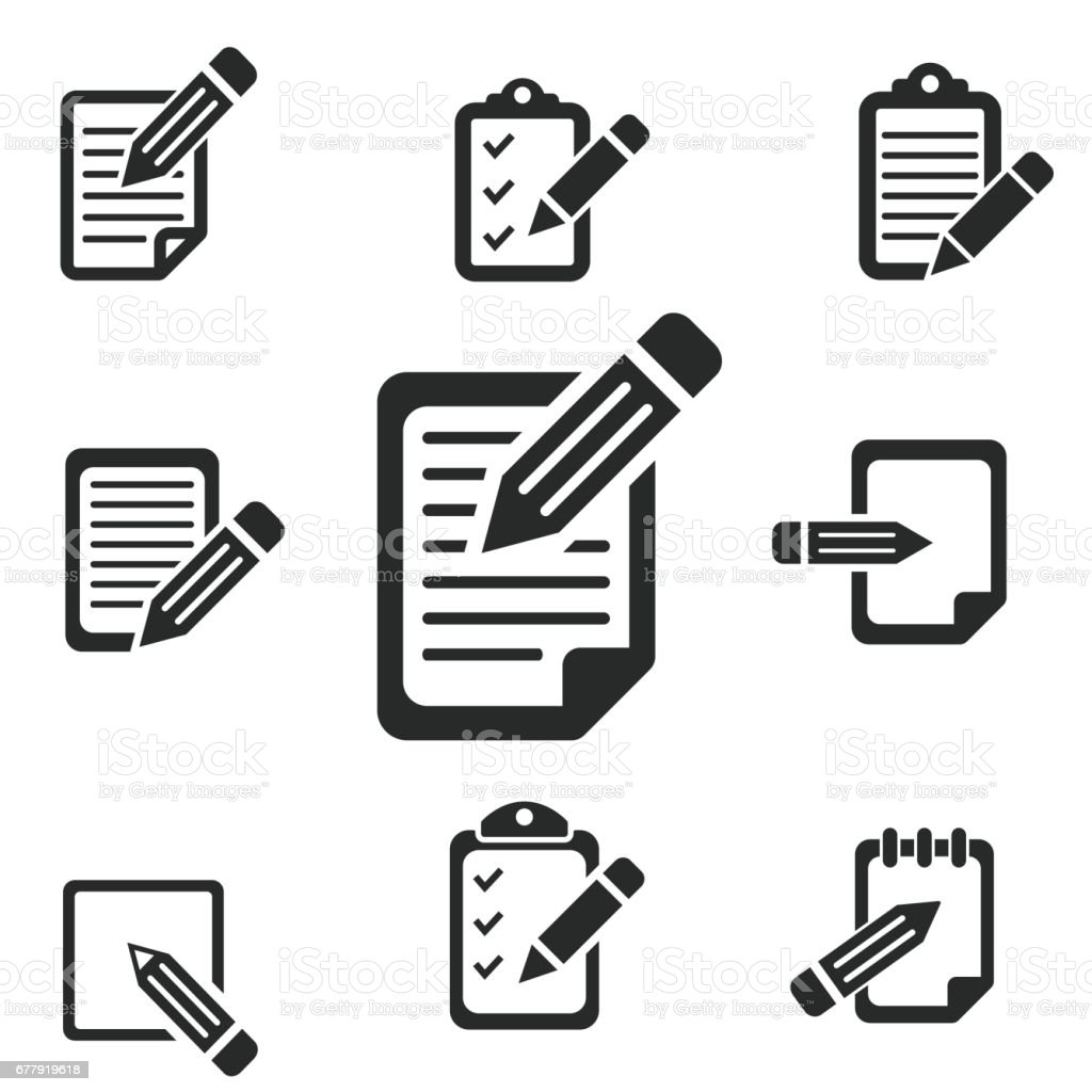 Registration icon set. vector art illustration