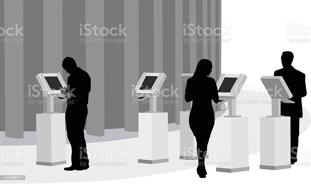Registration Vector Silhouette vector art illustration