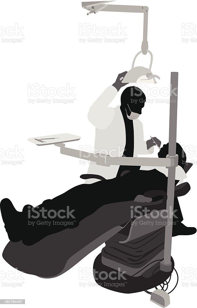 Regular Dentist vector art illustration