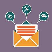 Regularly distributed news publication via e-mail