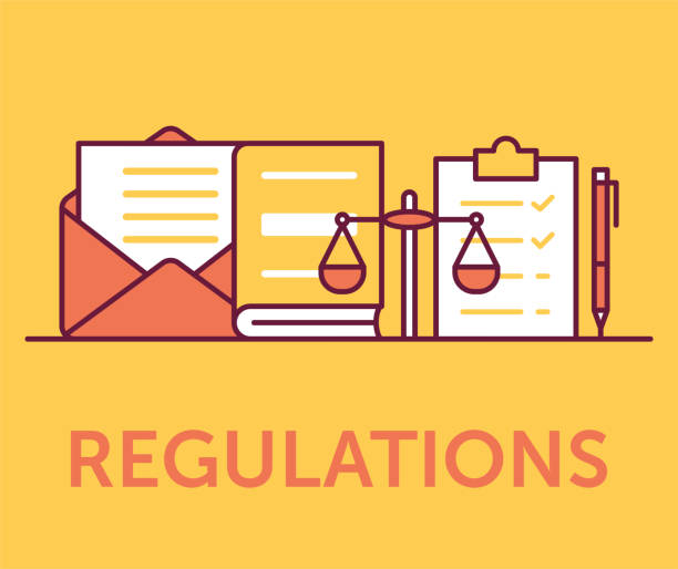 Regulations Icons Concept Regulations Icons Concept rules stock illustrations