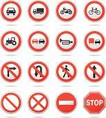 Vector illustration of regulatory road signs