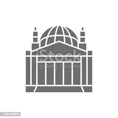 istock Reichstag Building, landmark of Berlin, German grey icon. 1294199944
