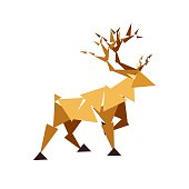 Reindeer abstract icon