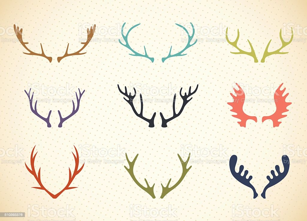Reindeer Antlers Illustration in Vector vector art illustration