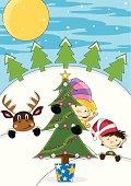 Reindeer & Christmas Elves.