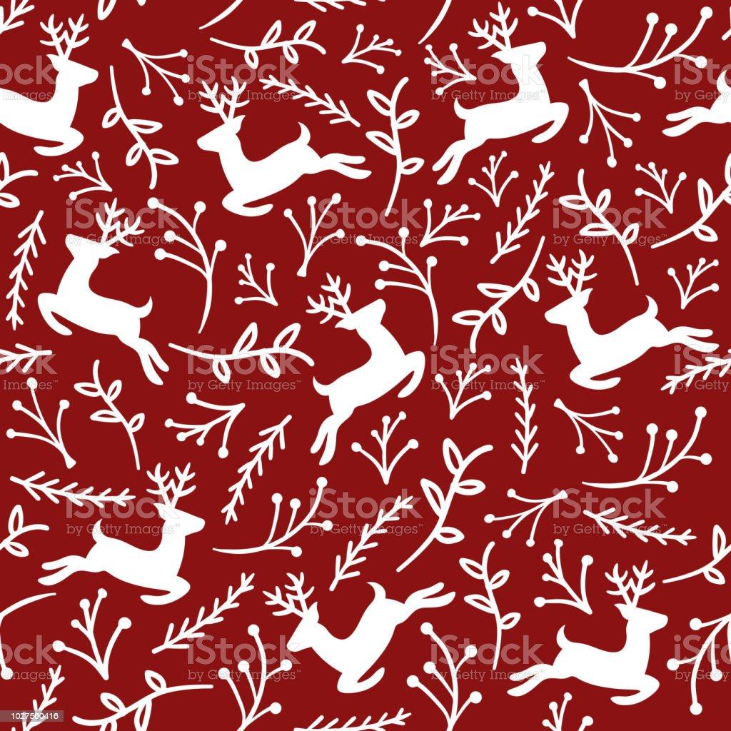 Reindeer Christmas Pattern Stock Illustration Download Image Now Istock