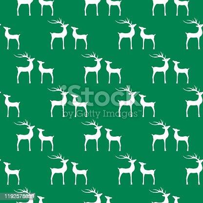 istock Reindeer Couple Seamless Pattern 1192578639