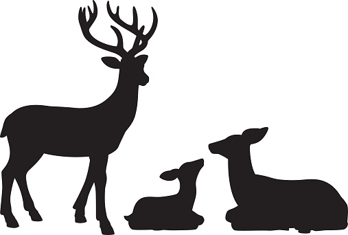 Reindeer Family Silhouettes
