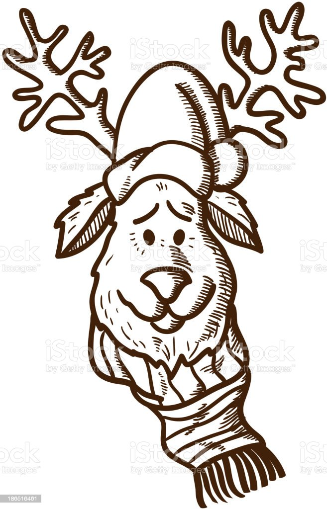 Reindeer in holiday clothes royalty-free reindeer in holiday clothes stock vector art & more images of cap