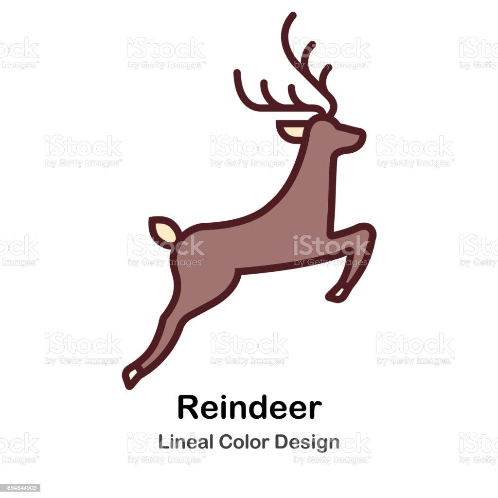 Ilustración de Ilustración De Reno Color Lineal y más banco de ...