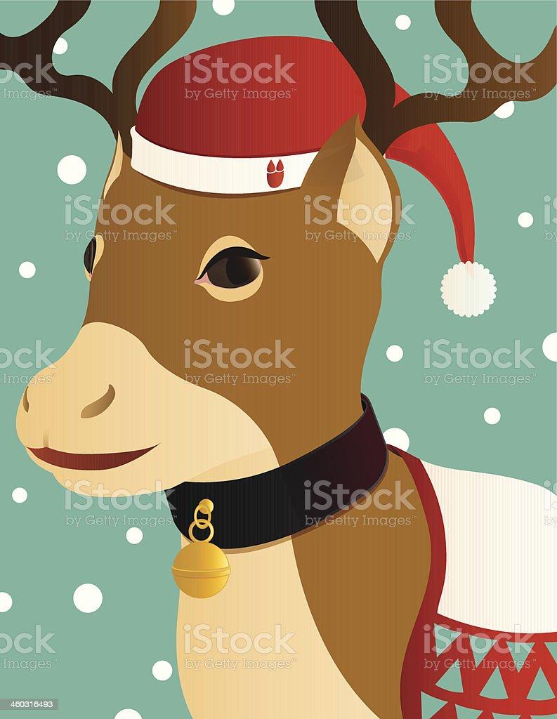 reindeer portrait royalty-free stock vector art