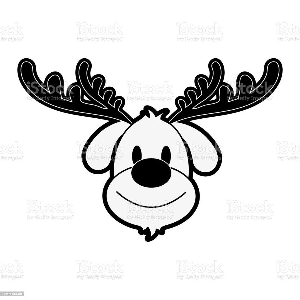 Rentier Rudolph Weihnachten Verwandte Symbolbild Stock Vektor Art ...