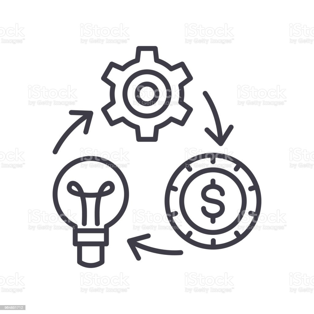 Reinvestment of funds black icon concept. Reinvestment of funds flat  vector symbol, sign, illustration. royalty-free reinvestment of funds black icon concept reinvestment of funds flat vector symbol sign illustration stock vector art & more images of arrival