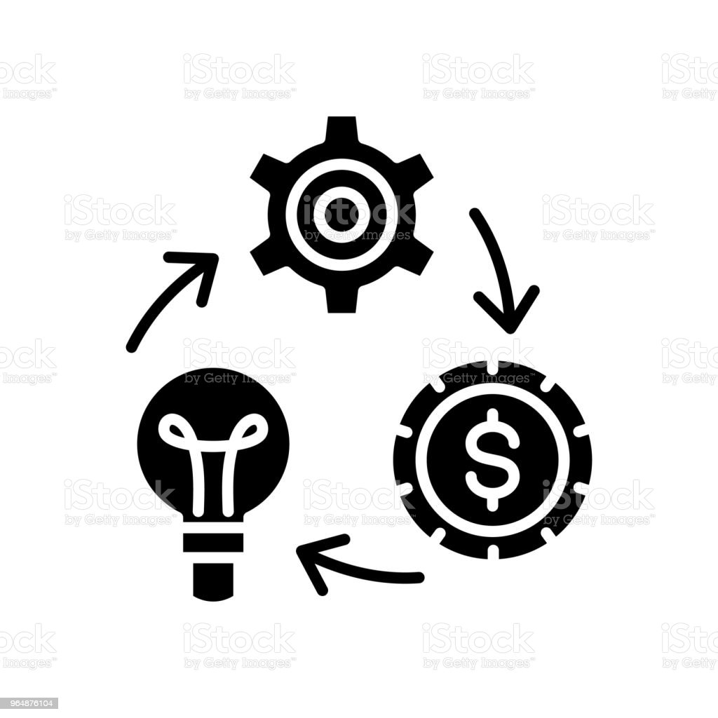 Reinvestment of funds black icon concept. Reinvestment of funds flat  vector symbol, sign, illustration. royalty-free reinvestment of funds black icon concept reinvestment of funds flat vector symbol sign illustration stock vector art & more images of american culture