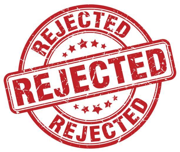 rejected red grunge round vintage rubber stamp rejected red grunge round vintage rubber stamp rejection stock illustrations