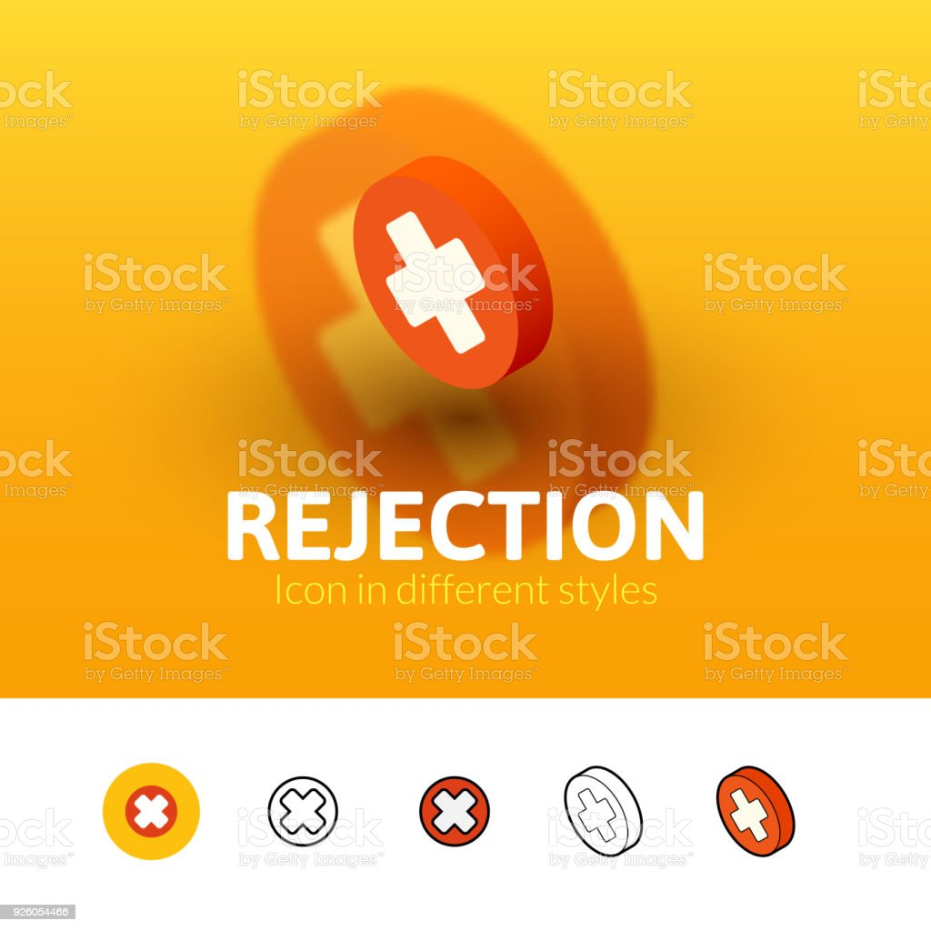 Rejection Icon In Different Style Stock Vector Art  More Images Of