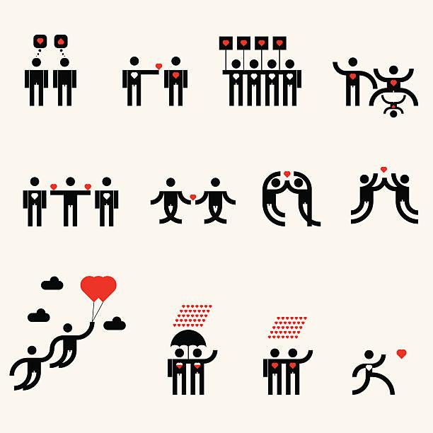 ilustraciones, imágenes clip art, dibujos animados e iconos de stock de pictogramas relacionados - tintanegra00