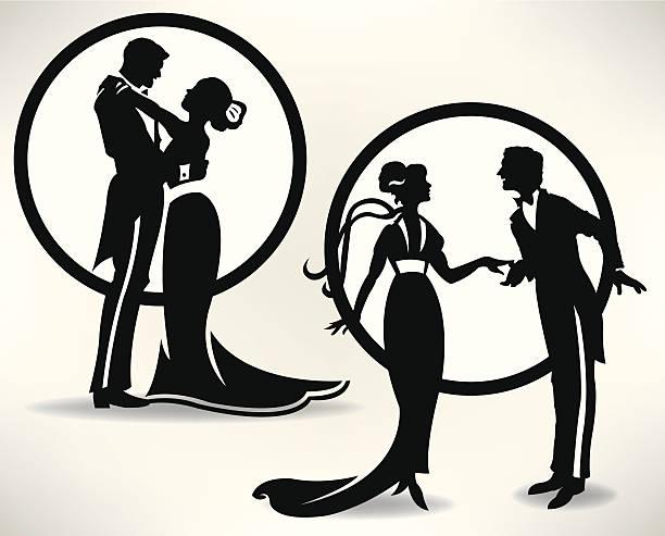 ilustrações, clipart, desenhos animados e ícones de dance casais apaixonados ou casamento - baile de graduação