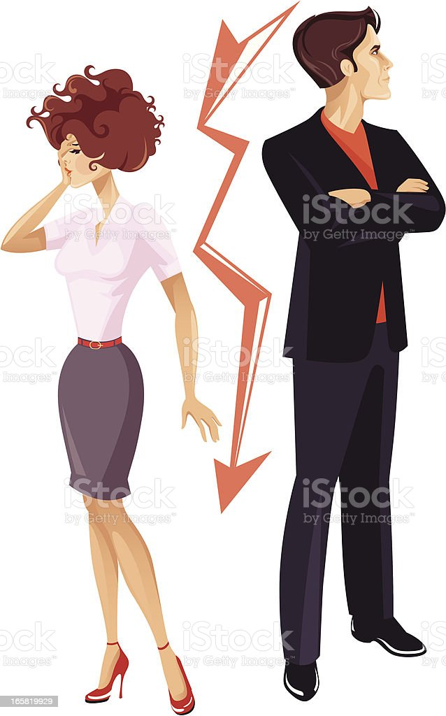 Relationship difficulties. royalty-free stock vector art