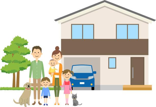 良い家族関係 - 母娘 笑顔 日本人点のイラスト素材/クリップアート素材/マンガ素材/アイコン素材