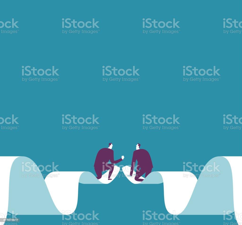 Relationship vector art illustration