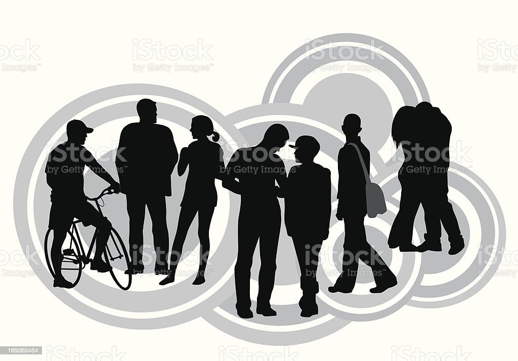 Relationships  Vector Silhouette royalty-free stock vector art