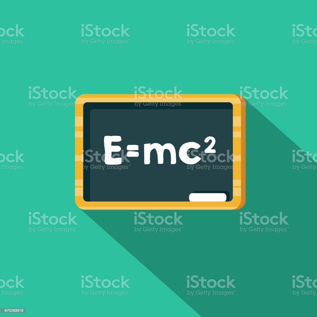 Relativity Flat Design Science & Technology Icon with Side Shadow vector art illustration