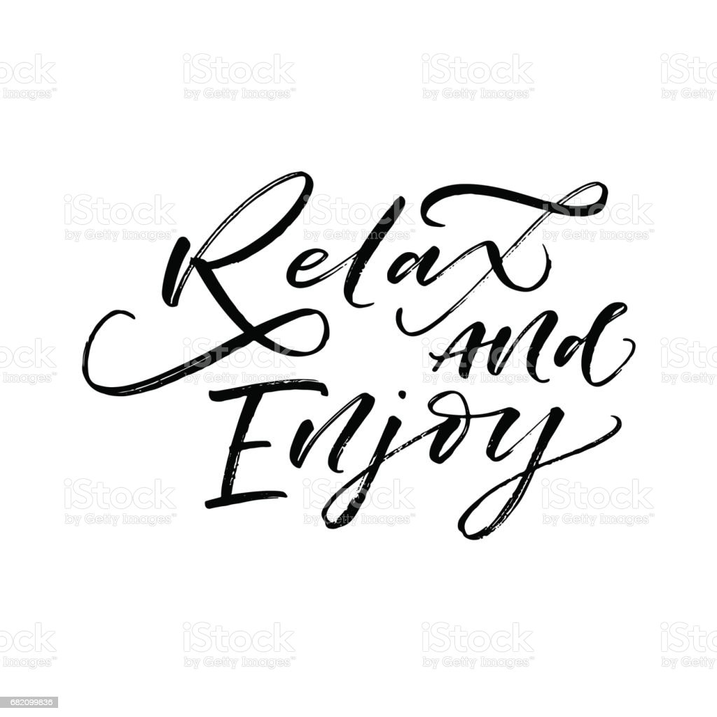Relax and enjoy card. vector art illustration