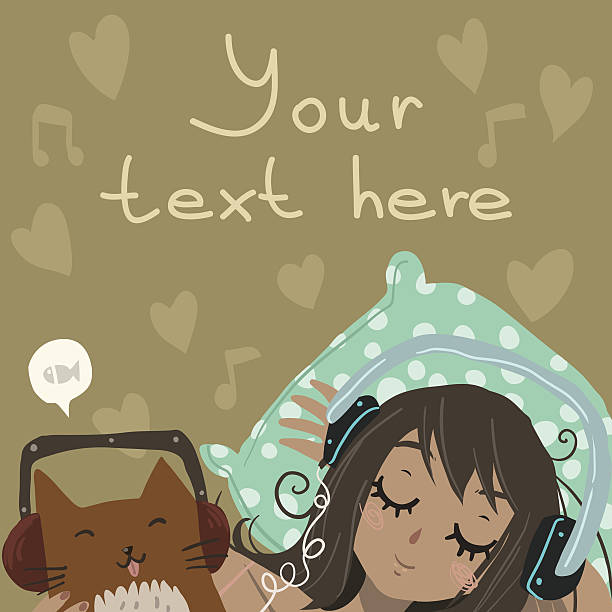 Relax and Listen to the Music vector art illustration