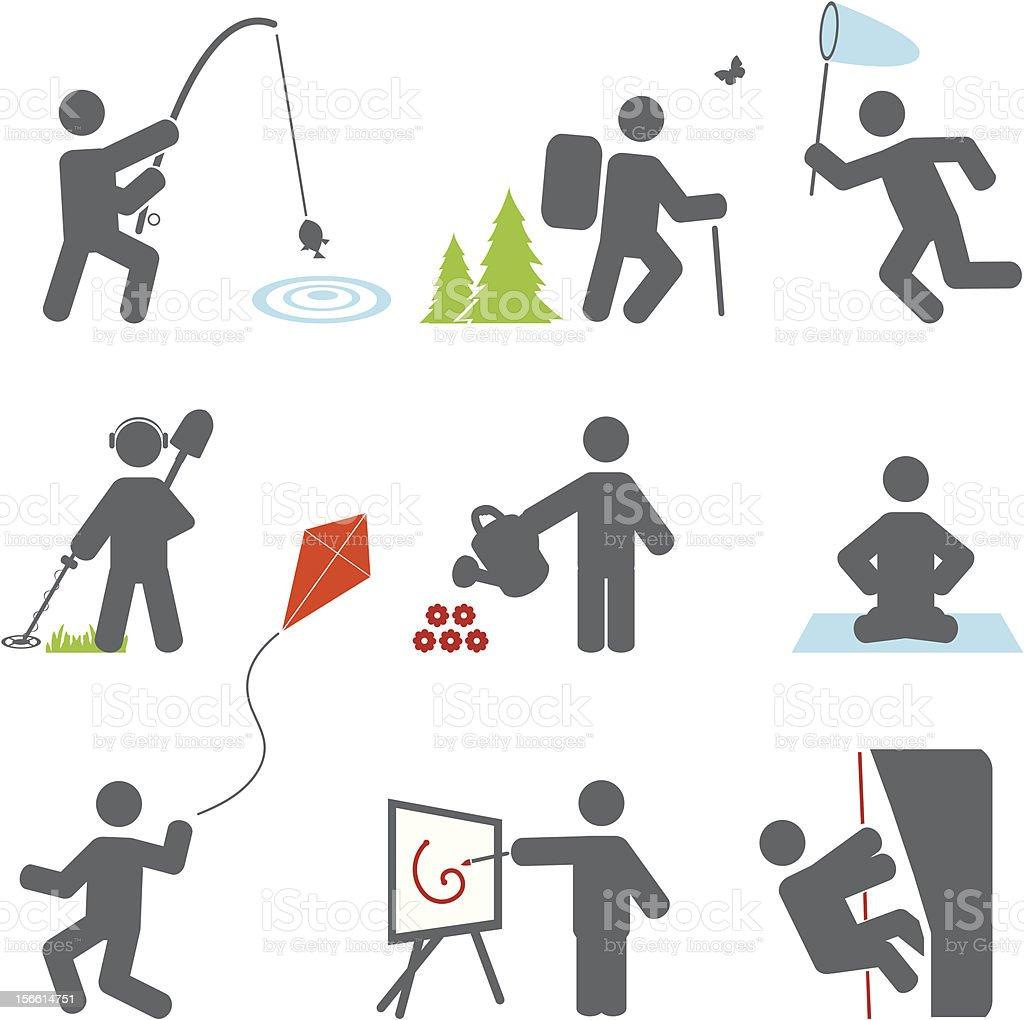 Relax icons vector art illustration