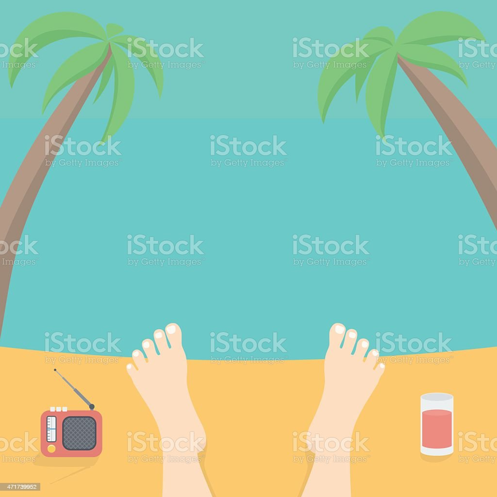 Relax on the Beach vector art illustration